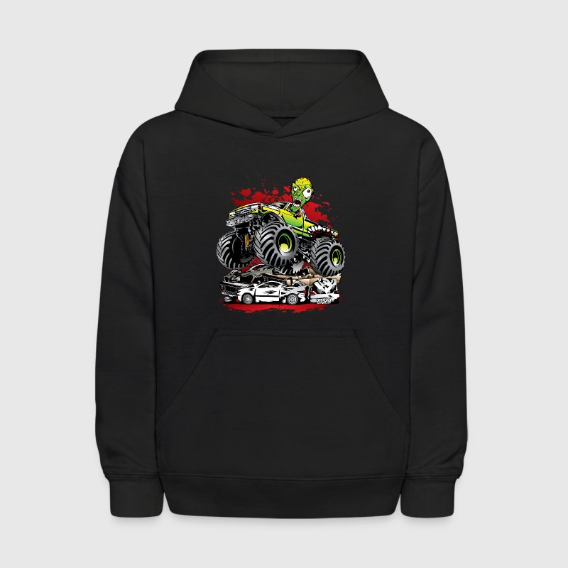 Ghoulish Monster Truck Sweatshirts - Kids' Hoodie