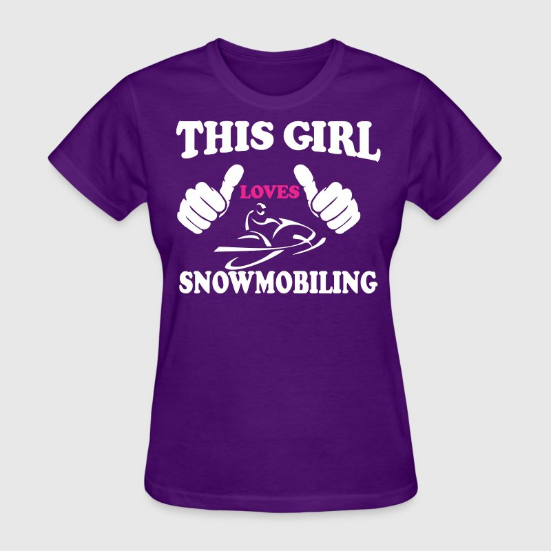 This Girl Loves Snowmobiling - Women's T-Shirt