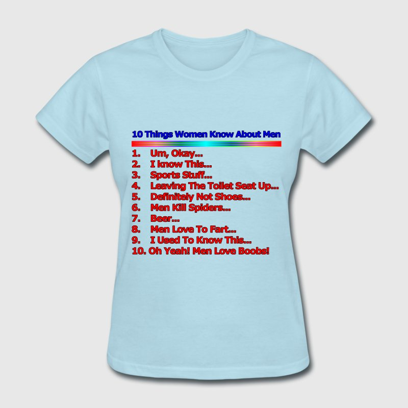 10 Things Women Know About Men - Women's T-Shirt