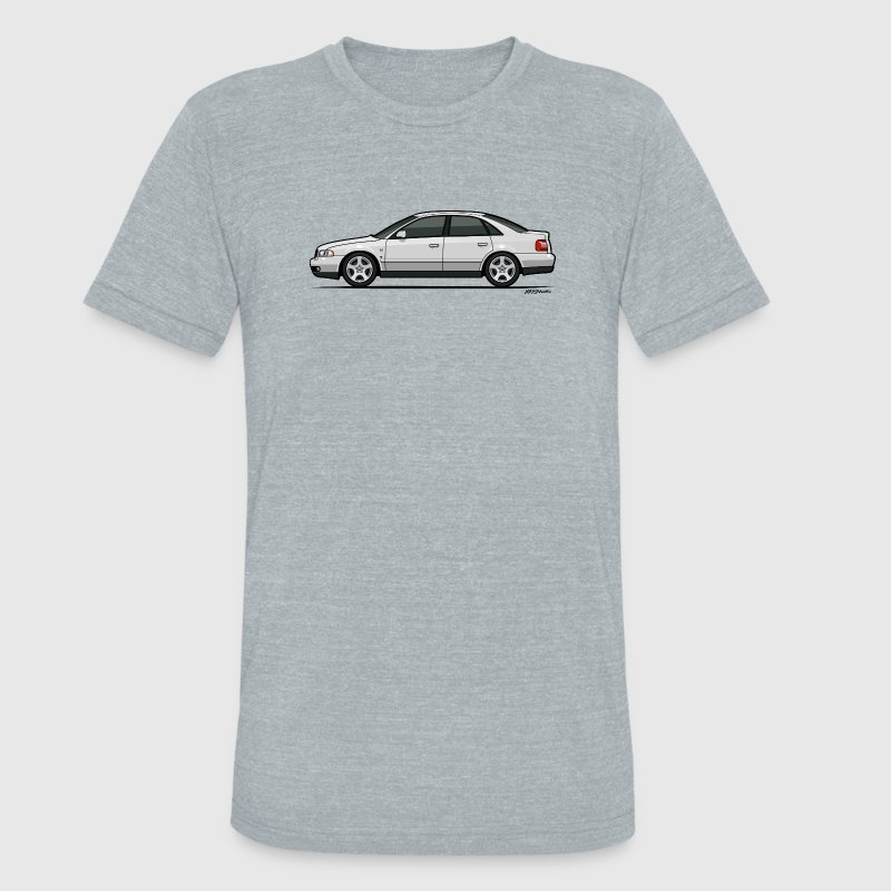Audi A4 Quattro B5 Sedan (White) T-Shirts - Unisex Tri-Blend T-Shirt by American Apparel