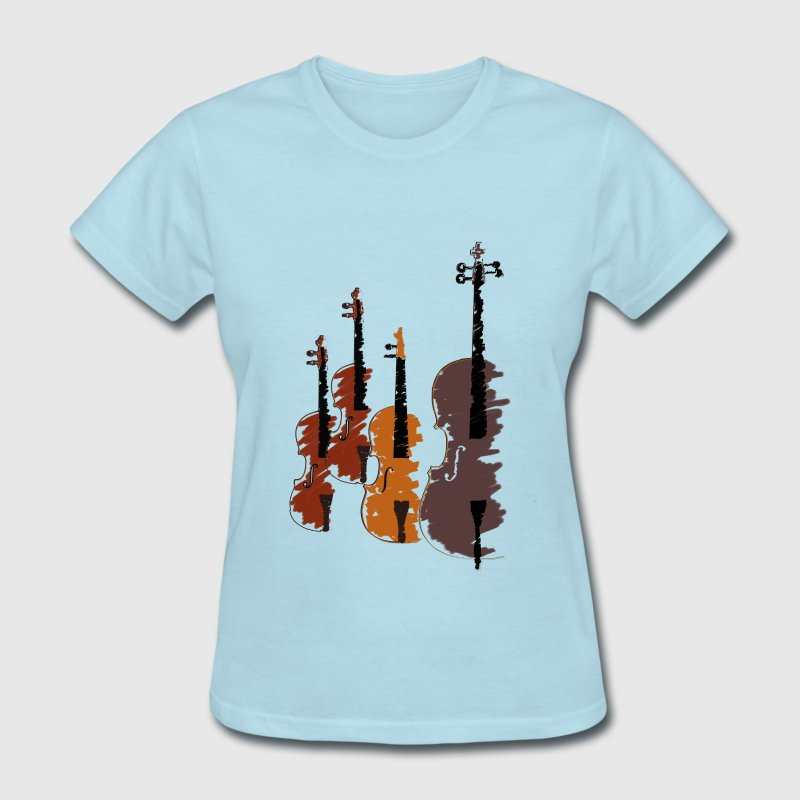 Quartet of bowed string instruments Women's T-Shirts - Women's T-Shirt
