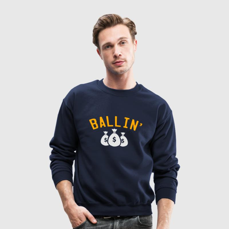Ballin' Sweat Shirt Black - Crewneck Sweatshirt
