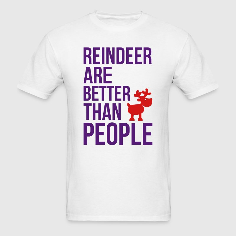 Reindeer are better than people_2c.ai T-Shirts - Men's T-Shirt
