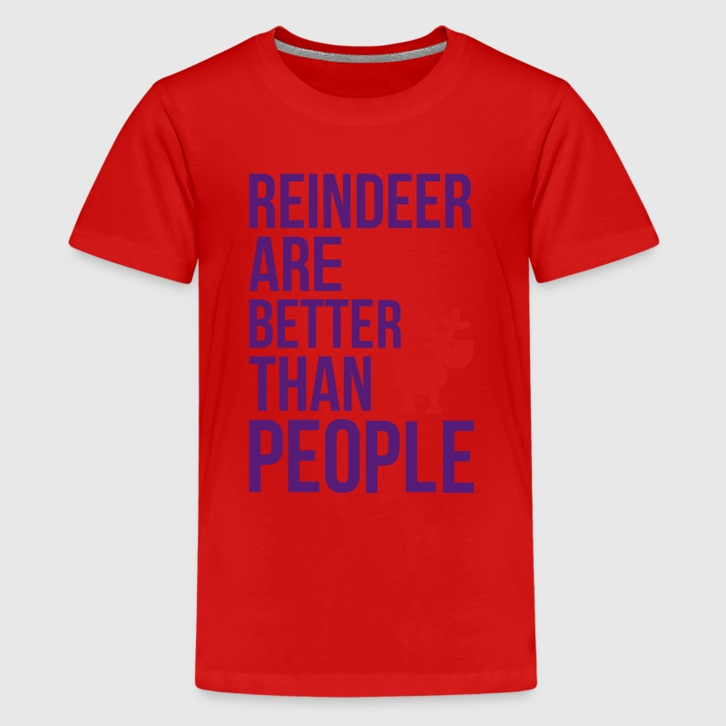 Reindeer are better than people_2c.ai Kids' Shirts - Kids' Premium T-Shirt