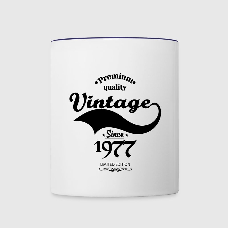 Premium Quality Vintage Since 1977 Limited Edition Mugs & Drinkware - Contrast Coffee Mug