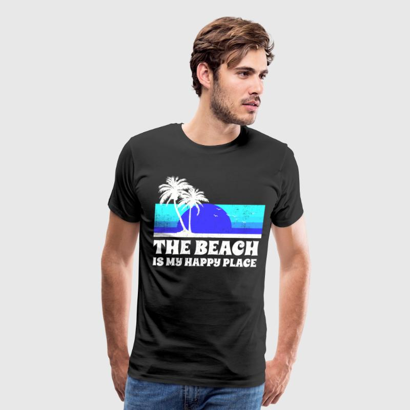 The Beach Happy Place T-Shirts - Men's Premium T-Shirt