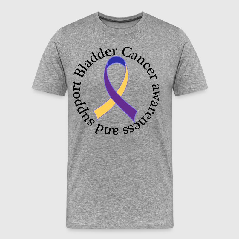 Bladder Cancer Awareness Support Ribbon T-Shirts - Men's Premium T-Shirt