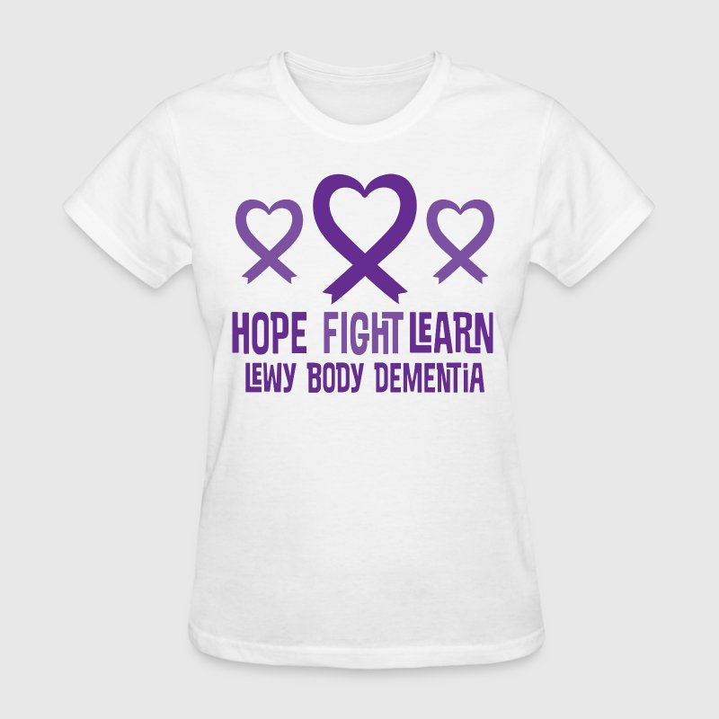 Lewy Body Dementia Heart Ribbon Hope Women's T-Shirts - Women's T-Shirt