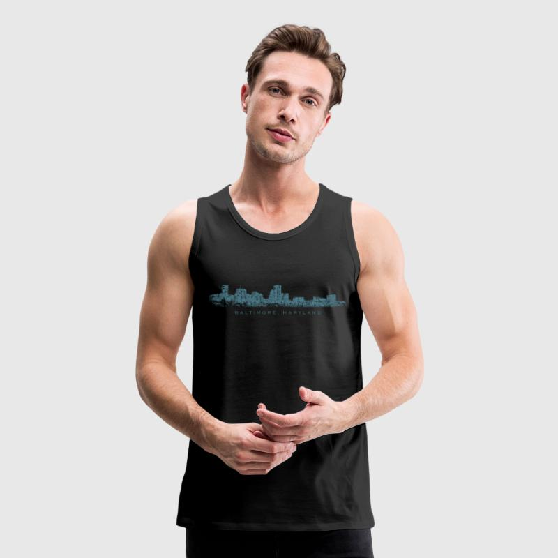 Baltimore, Maryland Tank Top (Men/Black) - Men's Premium Tank