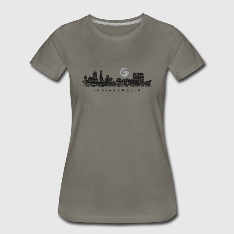 Moon over Indianapolis T-Shirt - Women's Premium T-Shirt