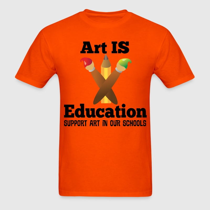 Support Art In Schools T-Shirts - Men's T-Shirt