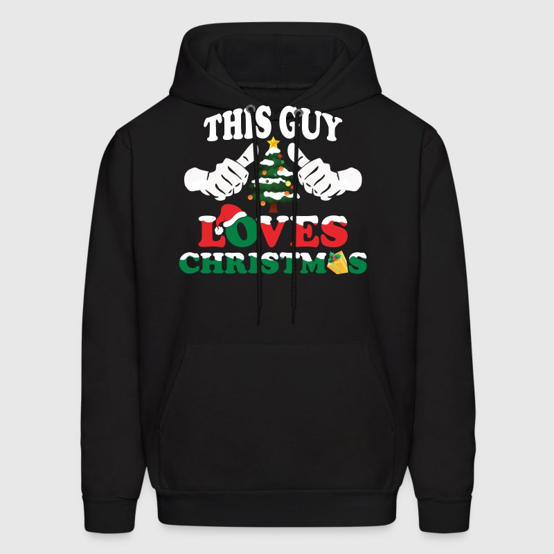 This Guy Loves Christmas Hoodies - Men's Hoodie