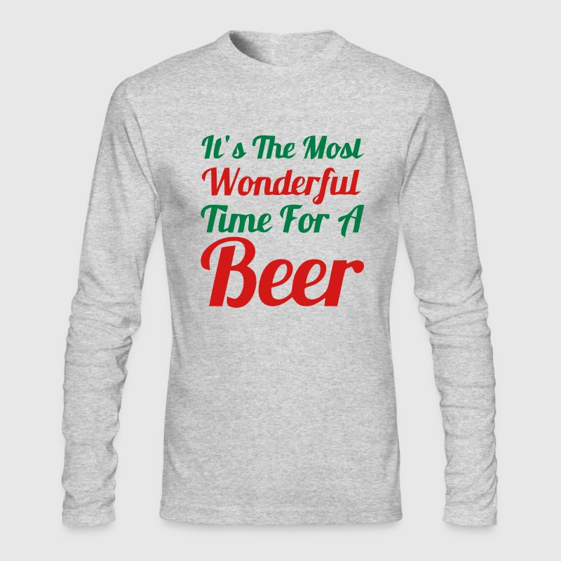 It's the most wonderful time for a Beer! Long Sleeve Shirts - Men's Long Sleeve T-Shirt by Next Level