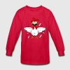 Funny Cartoon Chicken - Kids' Long Sleeve T-Shirt