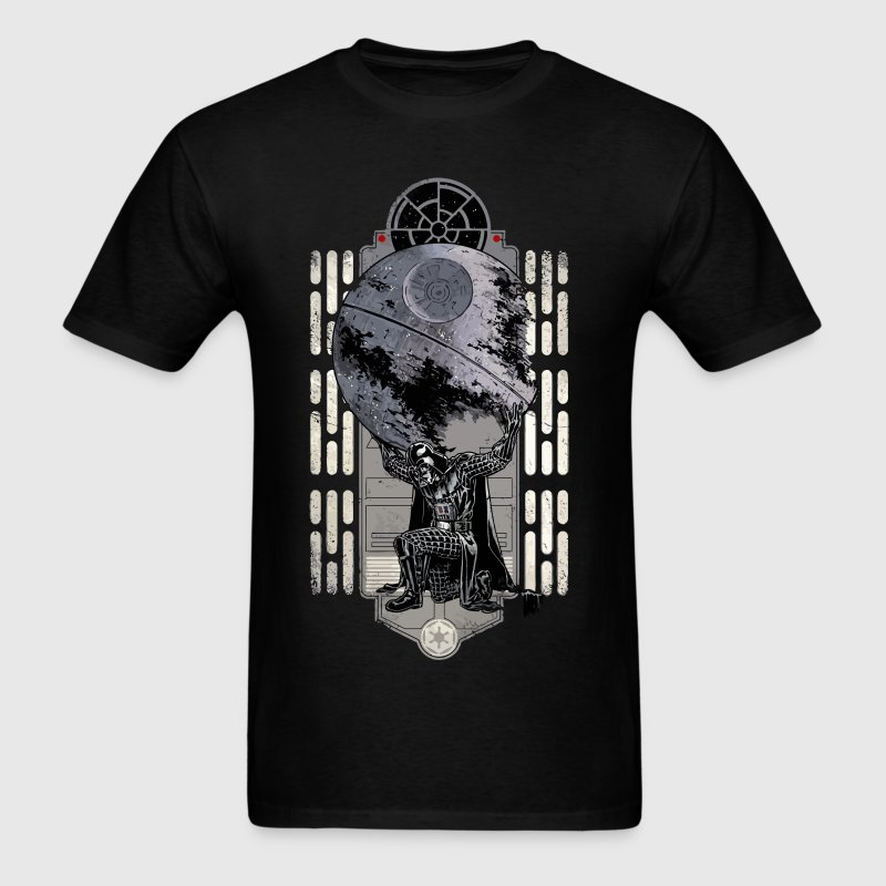 Funny Star Wars Darth Vader deathstar parody - Men's T-Shirt