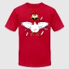 Funny Cartoon Chicken - Men's T-Shirt by American Apparel