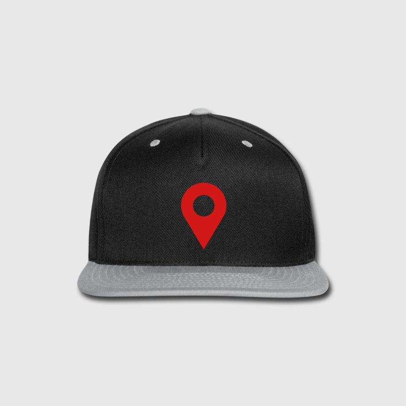 map location icon Caps - Snap-back Baseball Cap