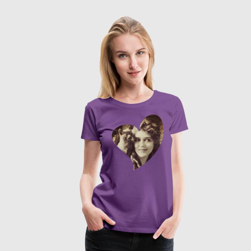 Mary Pickford - Vintage Lady with kitten - Vintage - Women's Premium T-Shirt