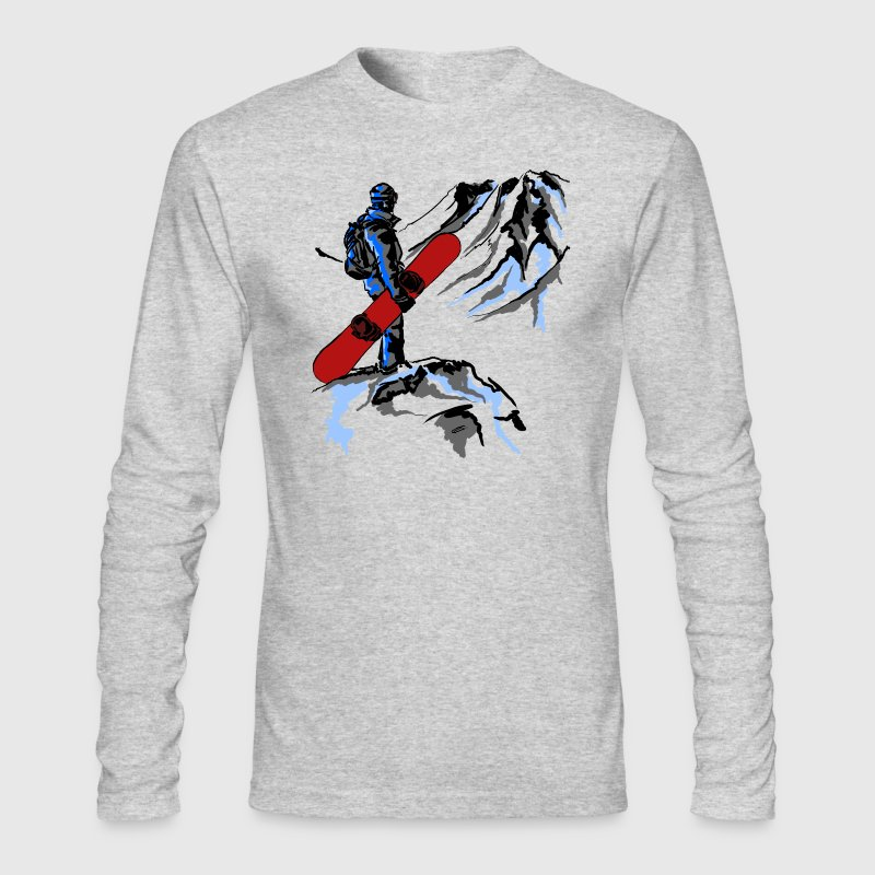 snowboarding Long Sleeve Shirts - Men's Long Sleeve T-Shirt by Next Level