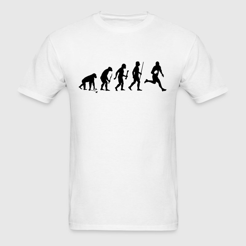 Evolution of Rugby - Men's T-Shirt