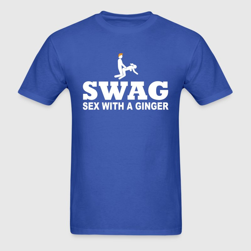 SWAG Sex With A Ginger - Men's T-Shirt