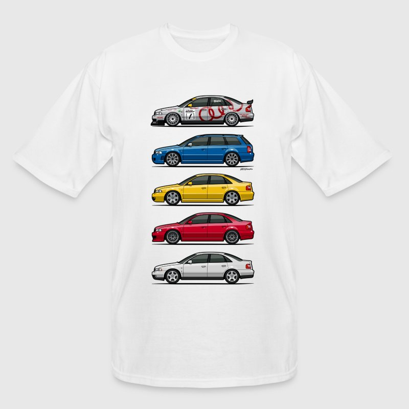 Stack of Audi A4 B5 T-Shirts - Men's Tall T-Shirt