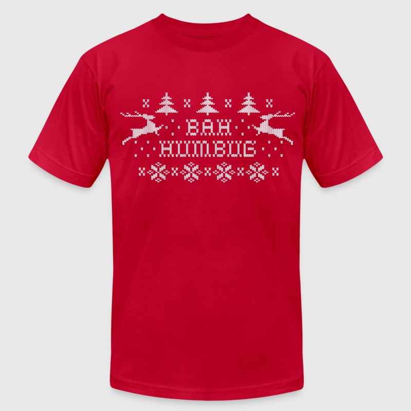 Bah Humbug T-Shirts - Men's T-Shirt by American Apparel