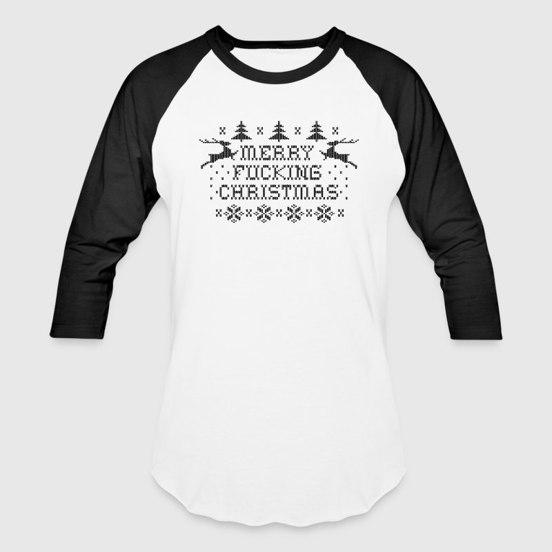 Merry Fucking Christmas T-Shirts - Baseball T-Shirt