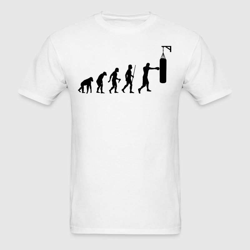 Evolution of Man Boxing - Men's T-Shirt