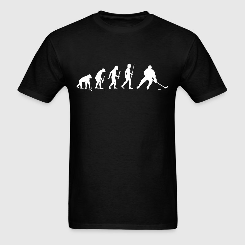 Evolution of Man Ice Hockey - Men's T-Shirt