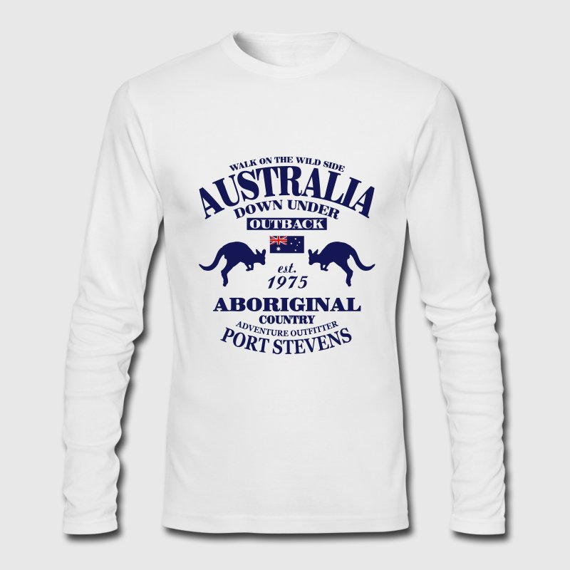 Australia Long Sleeve Shirts - Men's Long Sleeve T-Shirt by Next Level