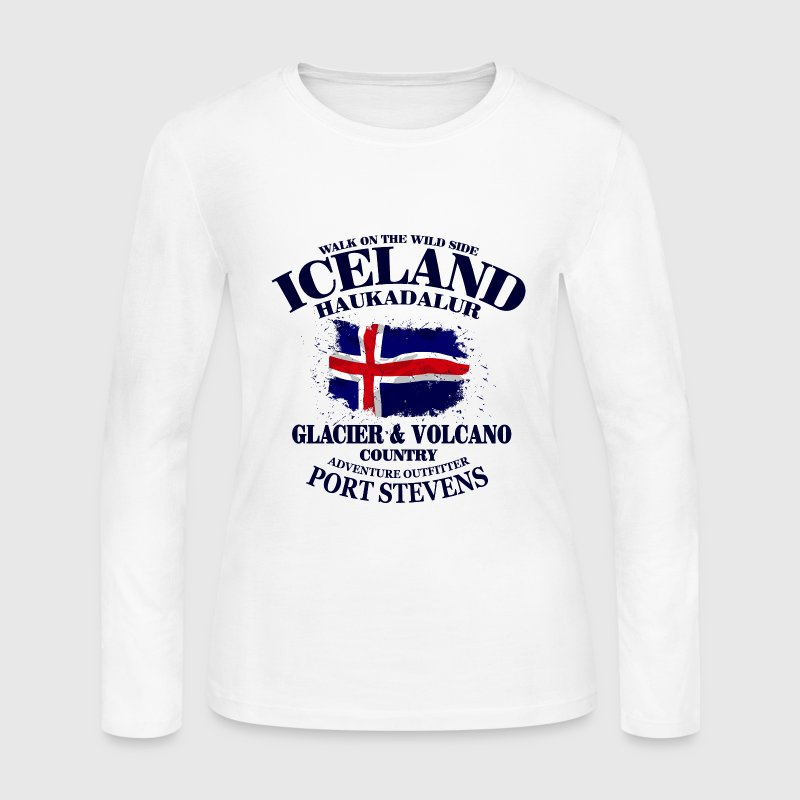 Iceland Long Sleeve Shirts - Women's Long Sleeve Jersey T-Shirt