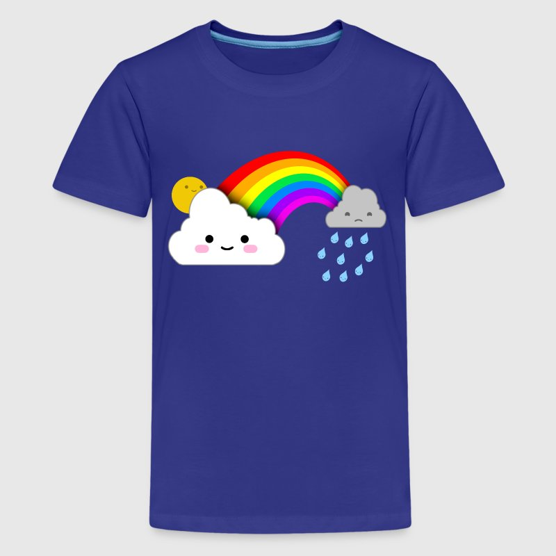 Super Cute Clouds and Rainbow - Kids' Premium T-Shirt