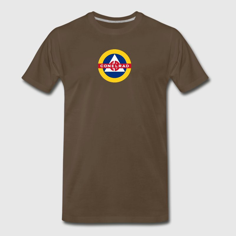 Conelrad Brown T-Shirt - Men's Premium T-Shirt