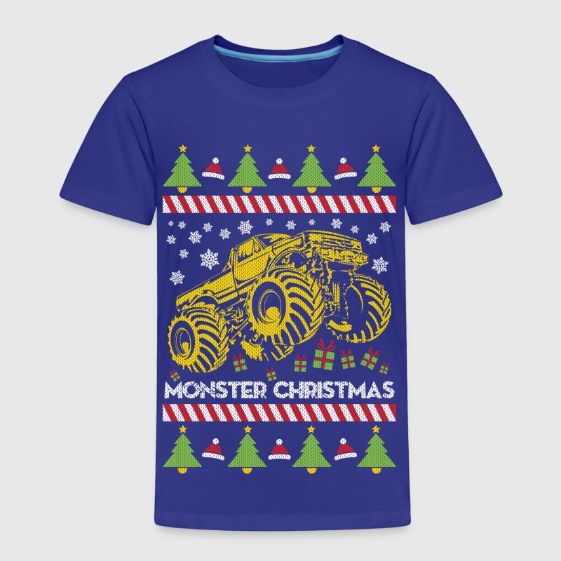 Monster Truck Ugly Christmas Baby & Toddler Shirts - Toddler Premium T-Shirt