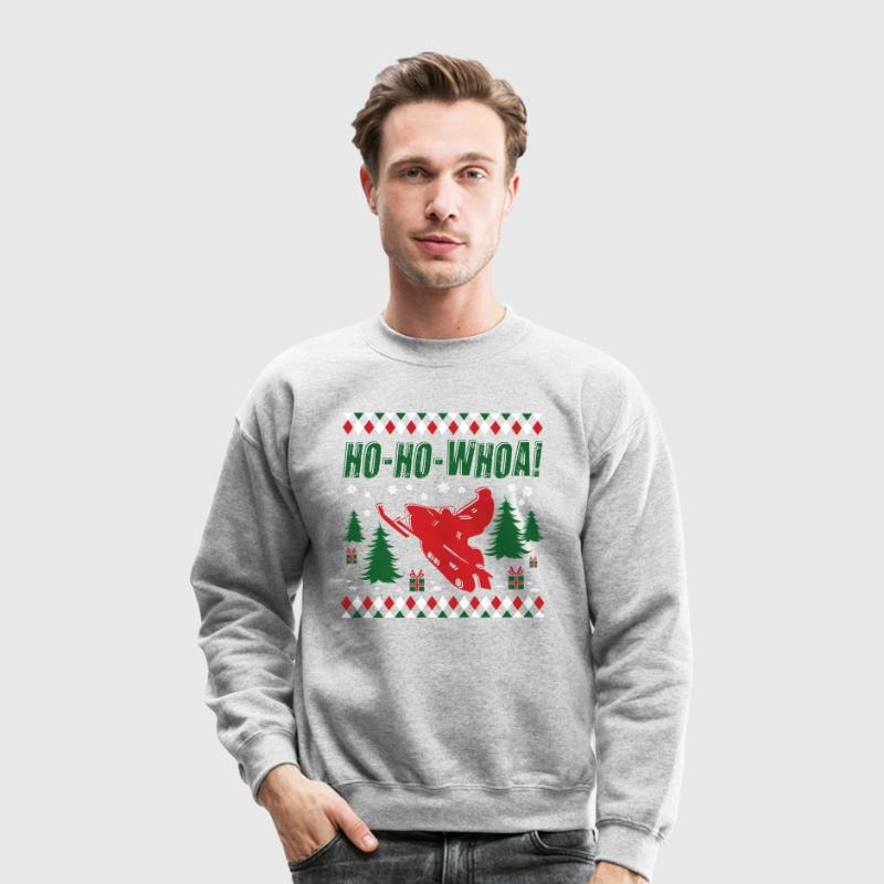 Snowmobile Ugly Christmas Long Sleeve Shirts - Crewneck Sweatshirt