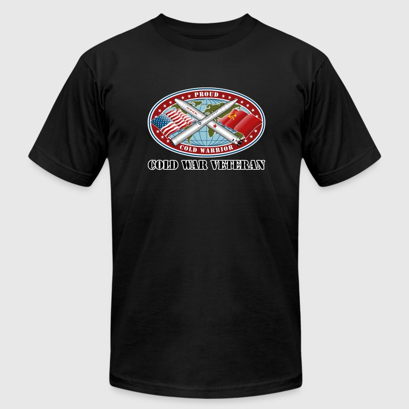 Proud Cold Warrior Cold War Veteran - Men's T-Shirt by American Apparel