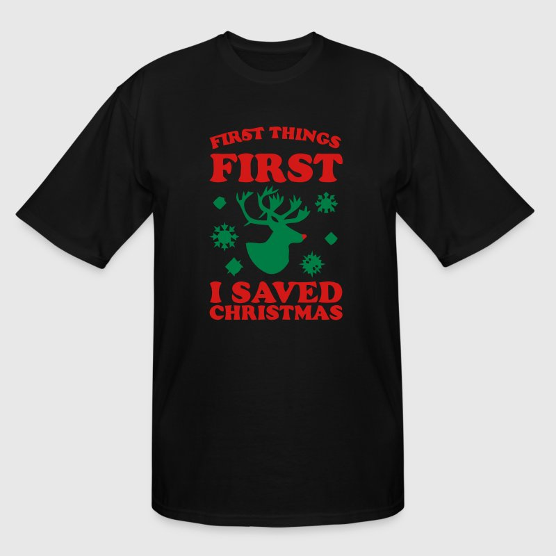 I SAVED CHRISTMAS T-Shirts - Men's Tall T-Shirt