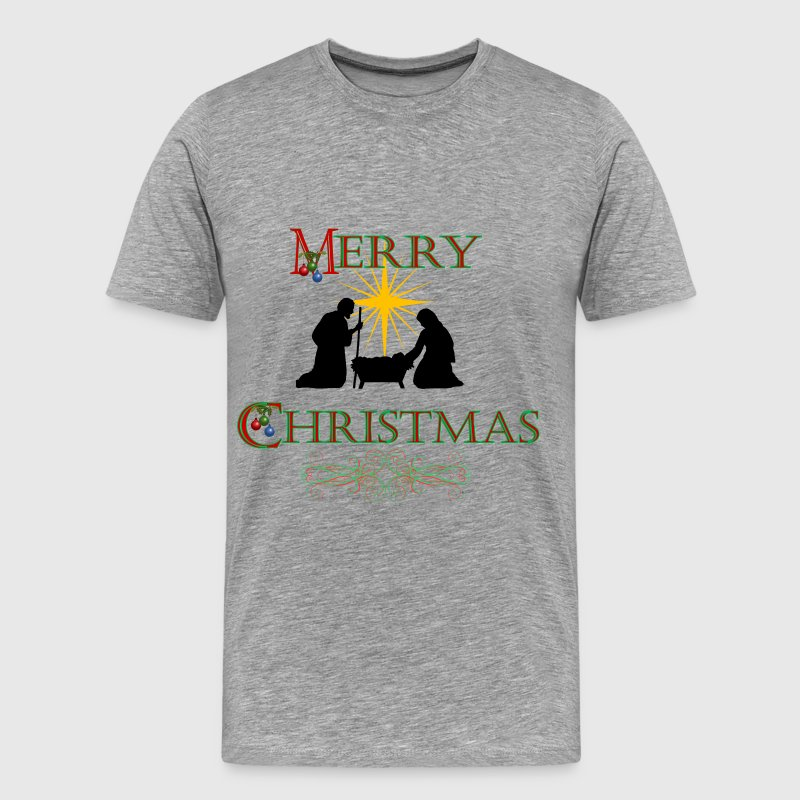 Merry Christmas Nativity - Men's Premium T-Shirt