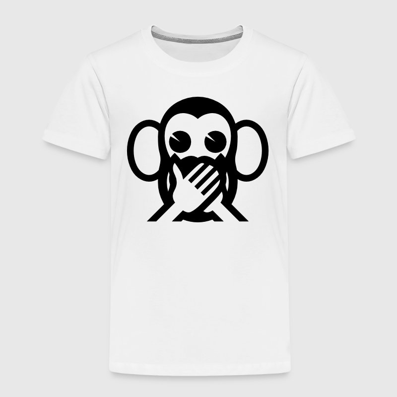 3 Wise Monkeys Iwazaru 言わざる Speak NO Evil Emoji Baby & Toddler Shirts - Toddler Premium T-Shirt