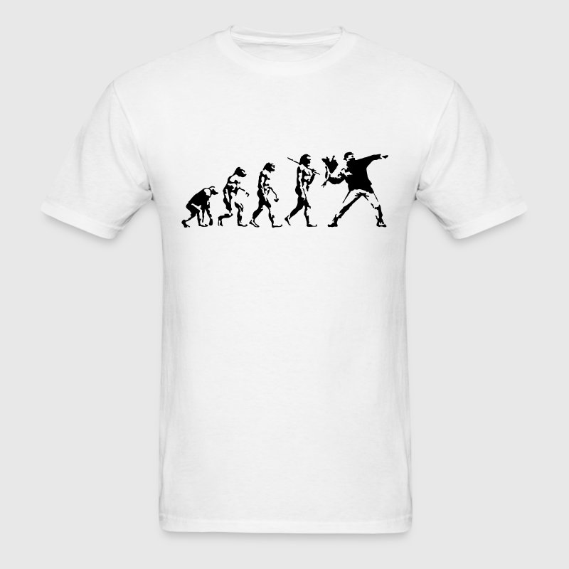 Banksy Flower Thrower Evolution T-SHIRT - Men's T-Shirt