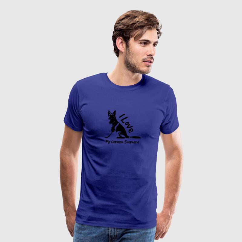 i love my german shepherd T-Shirts - Men's Premium T-Shirt