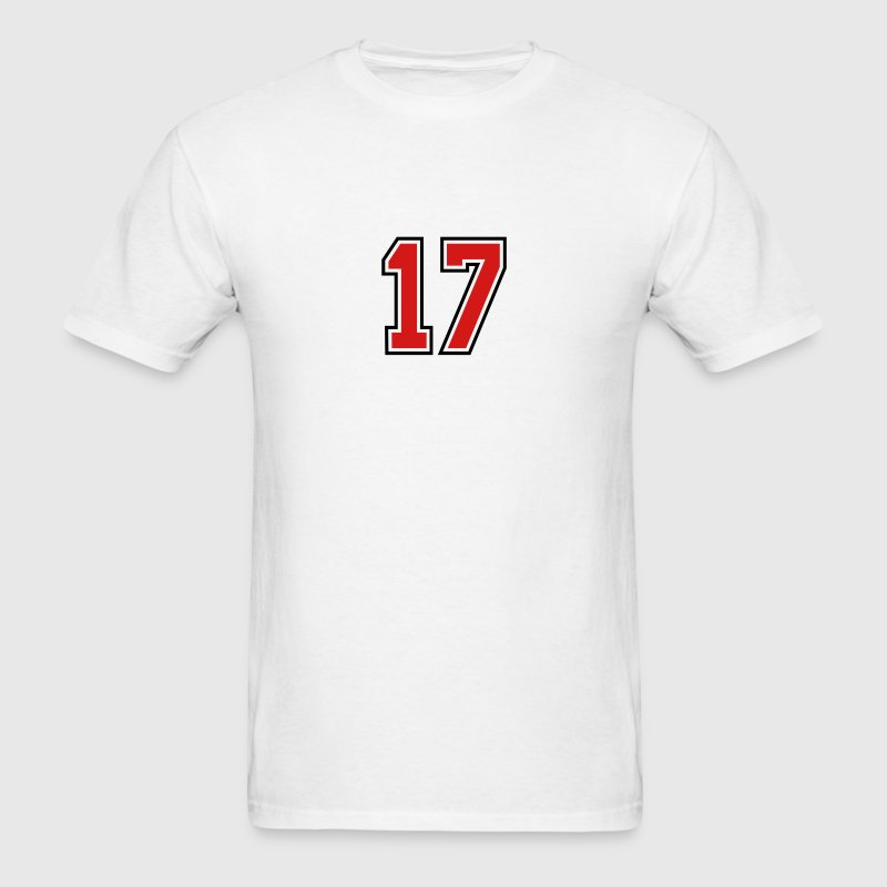17 sports jersey football number T-SHIRT - Men's T-Shirt