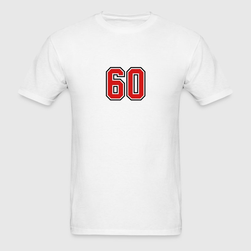 60 sports jersey football number T-SHIRT - Men's T-Shirt