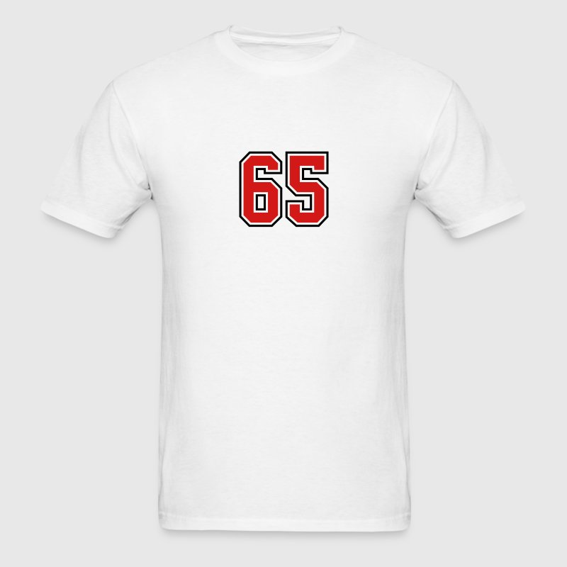 65 sports jersey football number T-SHIRT - Men's T-Shirt