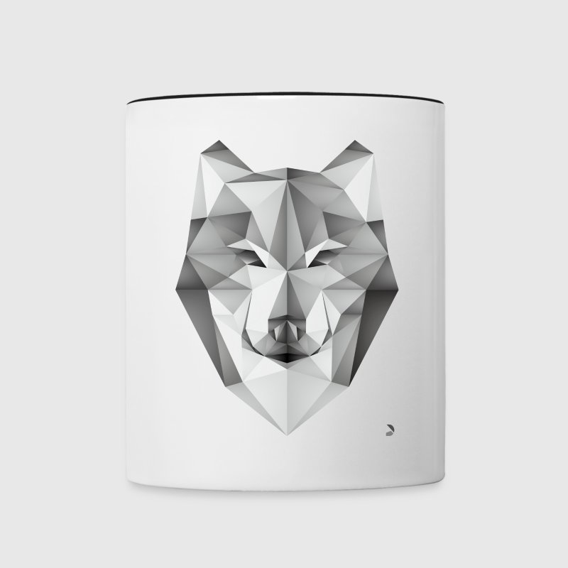 AD Geometric Wolf Mugs & Drinkware - Contrast Coffee Mug