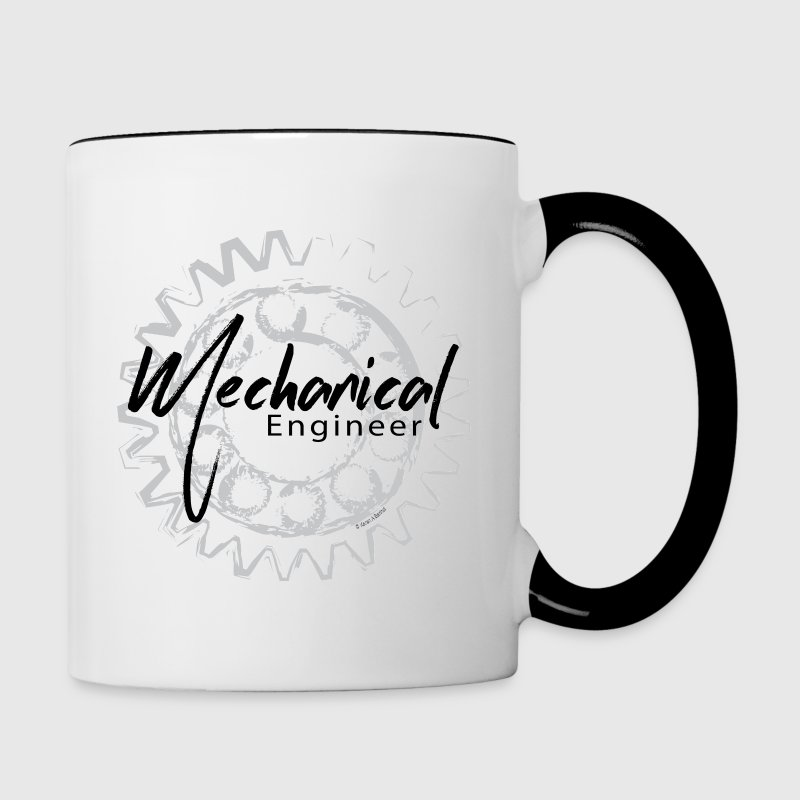 Mechanical Engineer Gear Sketch Mugs & Drinkware - Contrast Coffee Mug