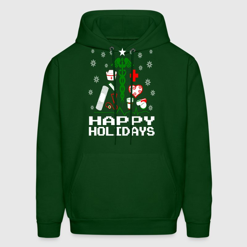 Nurse Christmas Tree Hoodies - Men's Hoodie