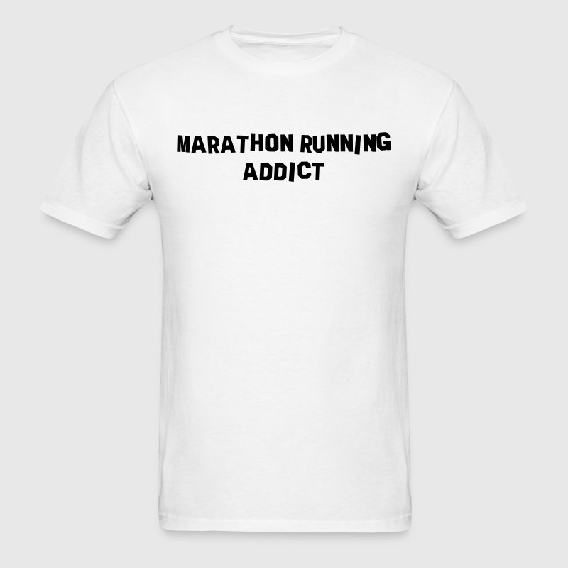 marathon running addict t-shirt - Men's T-Shirt