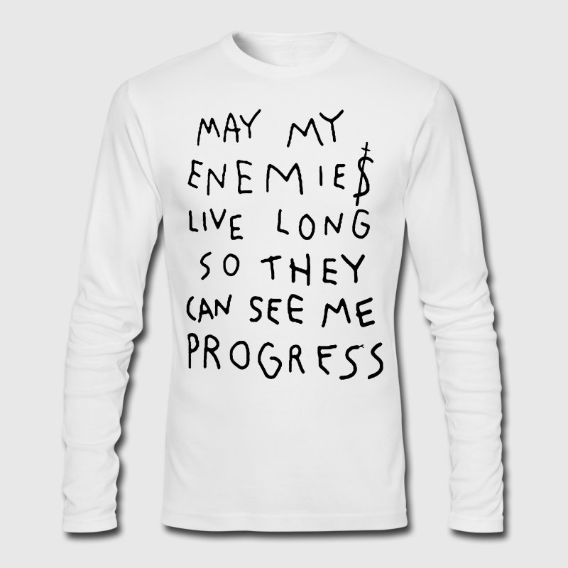 MAY MY ENEMIES LIVE LONG - Men's Long Sleeve T-Shirt by Next Level
